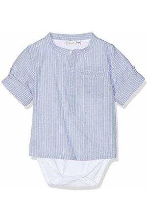 Name it Baby Boys' NBMFABIAN Shirt Body Footies Blau Ashley