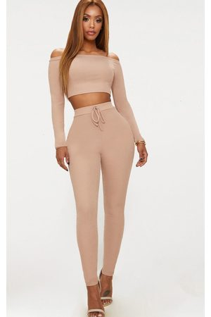 PRETTYLITTLETHING Shape Nude Ribbed High Waist Leggings