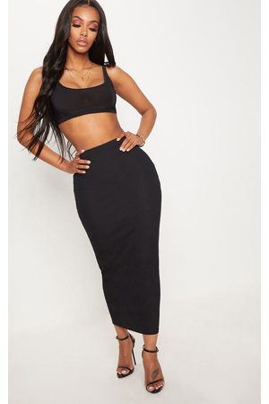 PRETTYLITTLETHING Shape Longline Midi Skirt