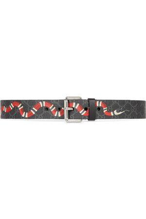 Gucci Men Belts - GG belt with Kingsnake print