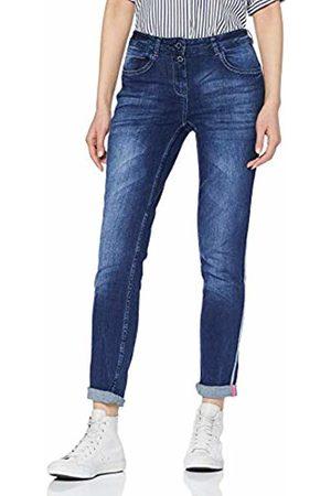 Cecil Women's 371936 Slim Jeans, (Dark wash 10315)