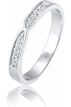 DIAMORE Women's 925 Sterling Engagement Plain Band Ring O 0609551417_54