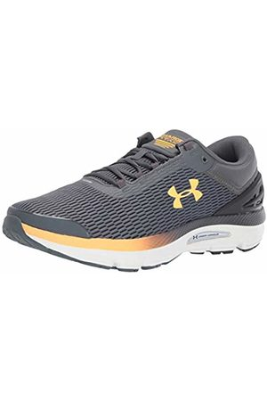 Under Armour Men's Charged Intake 3 Running Shoes, (Pitch Gray/Onyx /Mango 103)