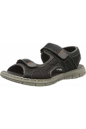 Rieker Men's 25161-01 Closed Toe Sandals, Rauch/Grau-Schwarz/Shark 01