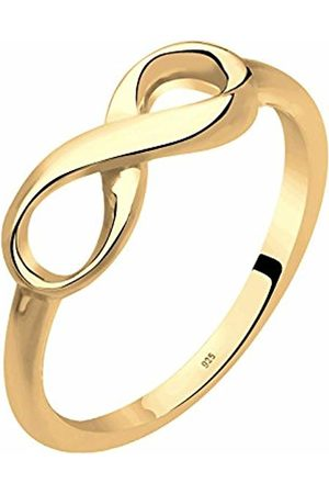 Elli Women's 925 Sterling Silver Plated Infinity Symbol Ring