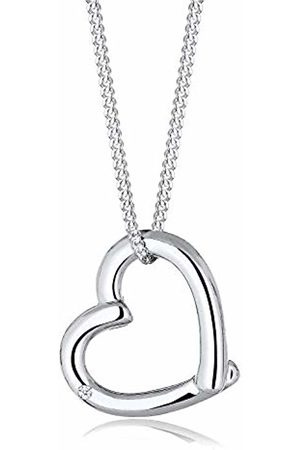DIAMORE Women Genuine Jewellery Necklace Chain with Pendant Heart Love Friendship Love Token 925 Sterling Silver Diamond 0