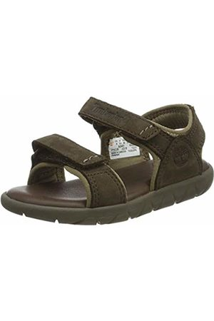 Timberland Unisex Kid's Nubble Leather 2 Strap Open Toe Sandals, ( Briar X1d)