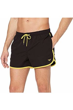 Emporio Armani Underwear Men's 9P423 Trunks (Nero 00020) Small (Manufacturer size: 48)