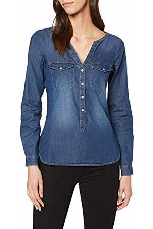 JDY Women's's wyre L/s Placket Shirt WVN Noos Blouse Medium Denim