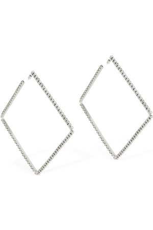 """AREA Large 4"""" Classic Square Hoop Earrings"""