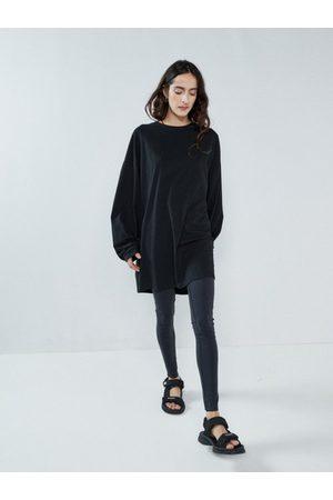 Raey Women Trousers - Contrast-waistband Leggings - Womens - Navy