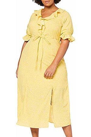 Lost Ink Women's Frill Front Dress in Mini Dot 0052