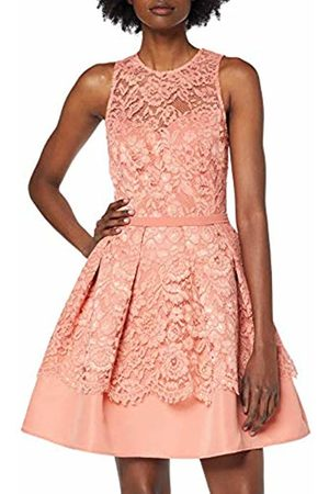 Little Mistress Women's Miranda Lace Mini Skater Dress A-Line Plain Crew Neck Sleeveless Party Dress