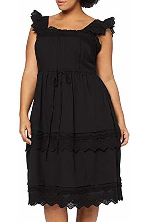 Lost Ink Women's Fit and Flare Dress with Broderie Trim 0001