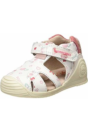 Biomecanics Baby Girls' 192120 Sandals (Blanco Y Corazones (Sauvage Y Estampado) Paprika) 7 UK 7UK Child