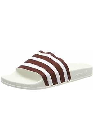 adidas Men's Adilette Beach & Pool Shoes, Collegiate Burgundy/FTWR