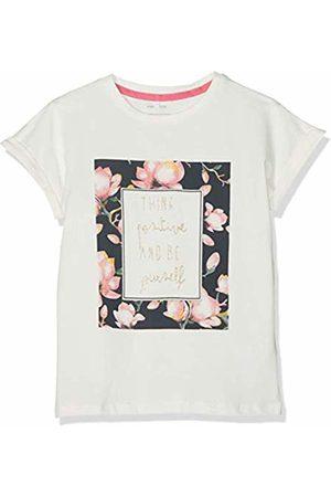 Name it Girls' NMFFINE SS TOP Box T-Shirt, Snow