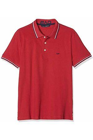 GAS Jeans Men's's Ralph/s 3 Polo Shirt (Barbados Cherry 1382) Medium