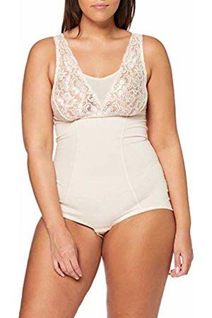 Ulla Popken Women's Plus Size Lace Top Body Shaping Bodysuit Nude 20/22 720910 35-46+