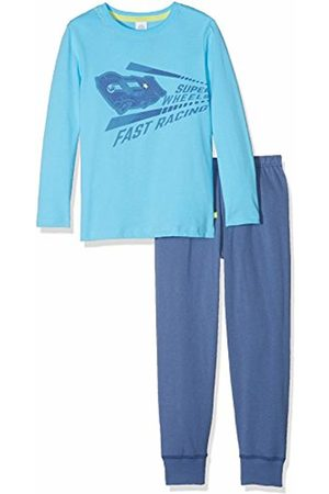 Sanetta 232115 Boys' Long Pyjama Set - Blue - 104