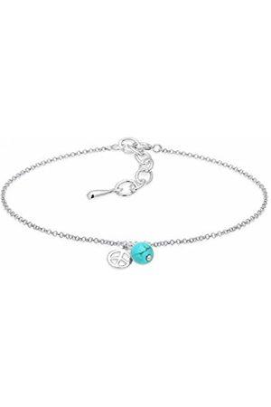 Elli Women Peace Howlith 925 Sterling Bracelet - 16cm length