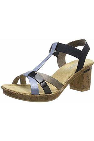 Rieker Women's V4598-10 Platform Sandals 8 UK