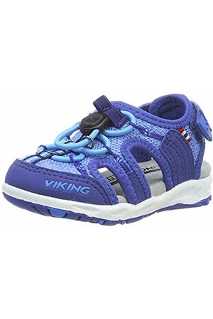 Viking Unisex Kids' Thrill II Closed Toe Sandals Blau (Dark 7635)
