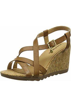 Hush Puppies Women's Pekingese Strappy Platform Sandals, (Tan 236)