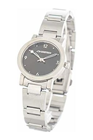 Chronotech Womens Analogue Quartz Watch with Stainless Steel Strap CT6441-10M