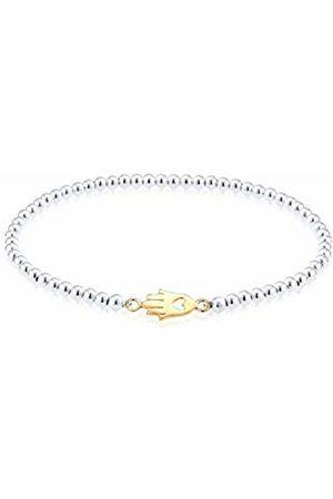 Elli Women Gold Plated 925 Sterling Hamsa Bracelet of Length 17cm