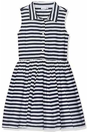 Name it Girls' NKFFRY Spencer Dress, Blau Dark Sapphire