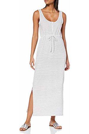 Vero Moda NOS Women's Vmdaina Dress Ga Color (Snow Stripes: Narrow Night Sky)