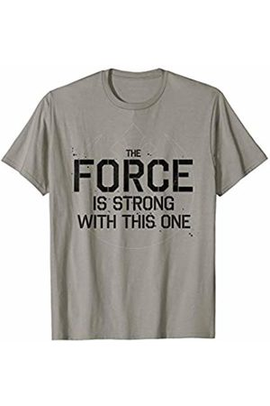 STAR WARS The Force Is Strong With This One Text Rebel Logo T-Shirt