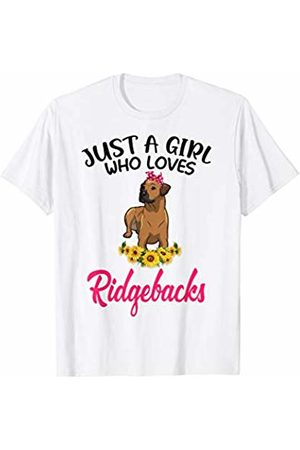 Just A Girl Who Loves Dog Mother's Day Gift By TA Just A Girl Who Loves Rhodesian Ridgebacks Shirt Mother's Da
