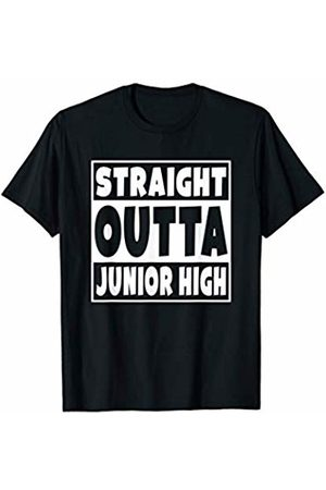 2019 Straight Out Of School Gift Straight Outta Junior High 8th Grade Funny Graduation Gift T-Shirt