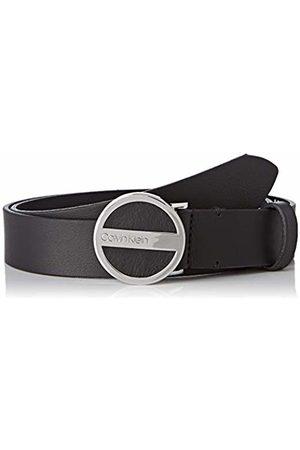 Calvin Klein Women's 3cm Round Buckle Belt ( 001))