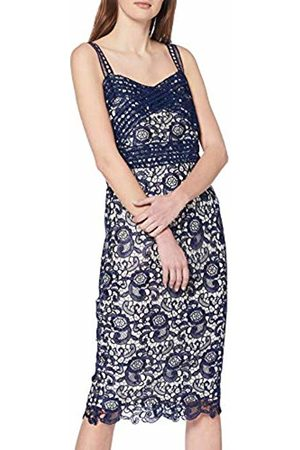 Paper Dolls Women's Navy Lace Midi Dress Pencil Sleeveless Dress