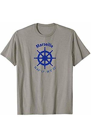 Jimmo Designs Marseille Nautical Coordinates T-Shirt For Sailors
