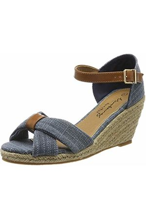 Mustang Women's 1248-803-8 Ankle Strap Sandals, (Blau 8)
