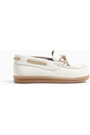 Zara Leather loafers with bow detail