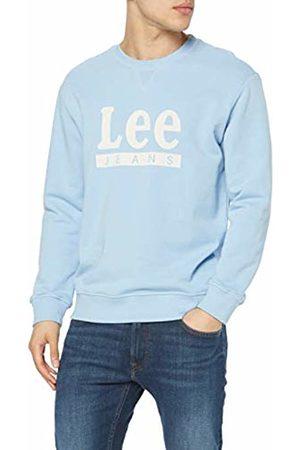 Lee Men's Basic Graphic Crew Sweatshirt, (Sky Lm)