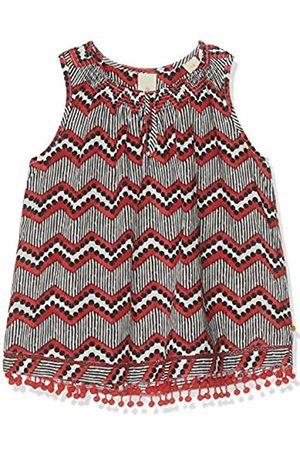 Scotch&Soda R´Belle Girl's Sleeveless A-line Fit Top with Smocked Neck and Tape Details Long Sleeve Top