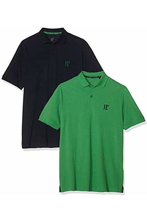 JP 1880 Men's Big & Tall 2-Pack Polo Shirts Forest