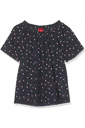 s.Oliver Girls' 58.904.12.2197 Blouse Blau (Dark AOP 58a0) 6 Years