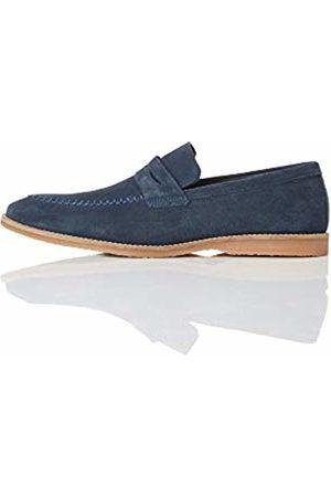 FIND Suede Loafer Blau Navy