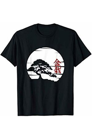 Japanese characters Bonsai Tree tee shirt Bonsai shirt for yoga zen meditation fans