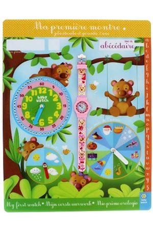 Baby Watch Watch-ABC Baby Bear Girls'Watch Digital Quartz 3-6 Years and Educational Plastic Strap Dial