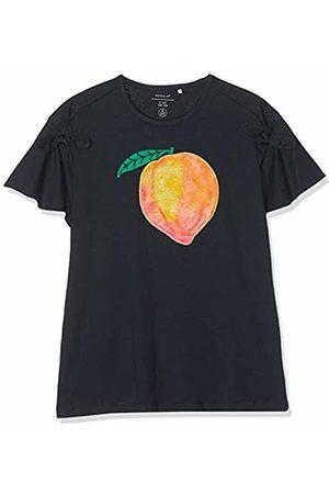 Name it Girl's Nkfflo Ss Top T-Shirt, Dark Sapphire