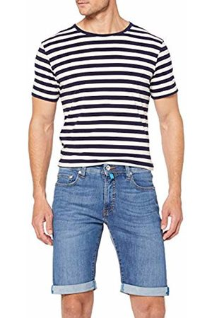 Pierre Cardin Men's Futureflex Strech Denim Bermuda Short, (Azur 17)