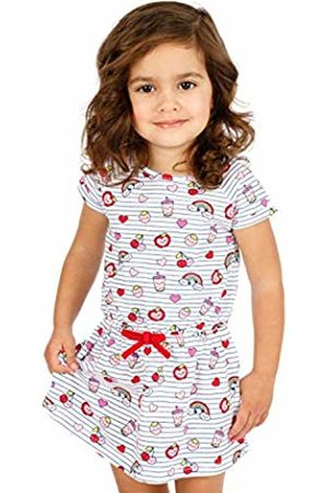 Top Top Baby Girls' VARCOIRO Dress Multicoloured (Print 298 ) 80 cm (Size:12-18)